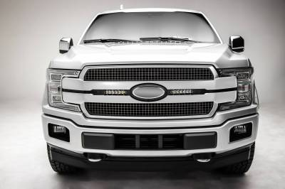 ZROADZ OFF ROAD PRODUCTS - 2018-2020 Ford F-150 Platinum OEM Grille LED Kit with (2) 6 Inch LED Straight Single Row Slim Light Bars, Black - PN# Z415581-KIT - Image 4