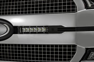 ZROADZ OFF ROAD PRODUCTS - 2018-2020 Ford F-150 Platinum OEM Grille LED Kit with (2) 6 Inch LED Straight Single Row Slim Light Bars, Black - PN# Z415581-KIT - Image 5