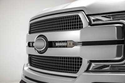 ZROADZ OFF ROAD PRODUCTS - 2018-2020 Ford F-150 Platinum OEM Grille LED Kit with (2) 6 Inch LED Straight Single Row Slim Light Bars, Brushed - PN# Z415583-KIT - Image 2
