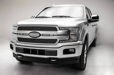 ZROADZ OFF ROAD PRODUCTS - 2018-2020 Ford F-150 Platinum OEM Grille LED Kit with (2) 6 Inch LED Straight Single Row Slim Light Bars, Brushed - PN# Z415583-KIT - Image 3