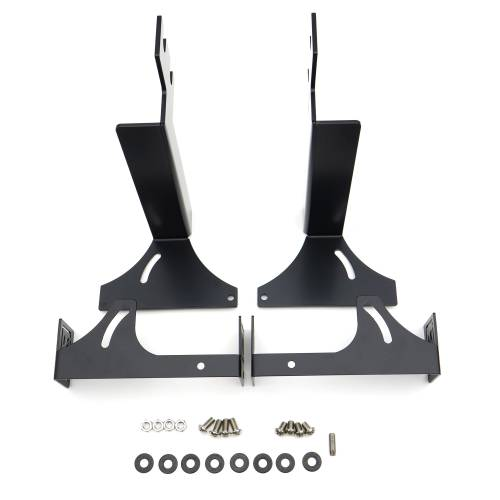 ZROADZ OFF ROAD PRODUCTS - 2015-2019 Silverado, Sierra HD Non-Diesel models - Rear Bumper LED Bracket to mount (2) 6 Inch Straight Light Bar - PN #Z381221 - Image 1