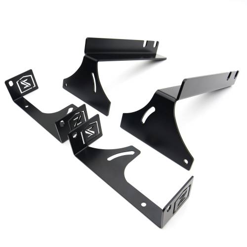 ZROADZ                                             - 2007-2013 Silverado, Sierra 1500 Rear Bumper LED Bracket to mount (2) 6 Inch Straight Light Bar - PN # - Image 3