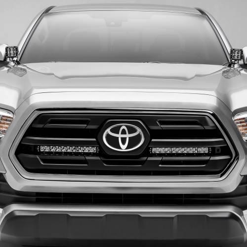 ZROADZ                                             - 2018-2019 Toyota Tacoma OEM Grille LED Kit with (2) 10 Inch LED Single Row Slim Light Bars - PN #Z419611-KIT - Image 1