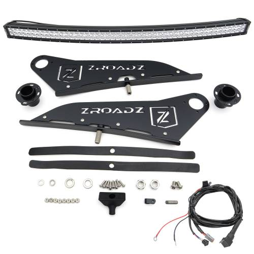 ZROADZ OFF ROAD PRODUCTS - 2007-2021 Toyota Tundra Front Roof LED Kit with 50 Inch LED Curved Double Row Light Bar - PN #Z339641-KIT-C - Image 9