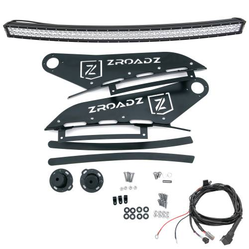 ZROADZ OFF ROAD PRODUCTS - 2007-2013 Silverado, Sierra 1500 Front Roof LED Kit with (1) 50 Inch LED Curved Double Row Light Bar - PN #Z332051-KIT-C - Image 2