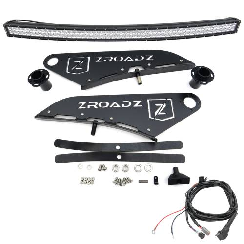 ZROADZ OFF ROAD PRODUCTS - 2015-2021 Ford F-150 Front Roof LED Kit with 50 Inch LED Curved Double Row Light Bar - PN #Z335731-KIT-C - Image 5