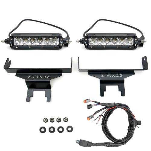 ZROADZ                                             - 2018-2021 Jeep JL Rear Window LED Kit with (2) 6 Inch LED Straight Single Row Slim Light Bars - PN #Z394941-KIT - Image 5