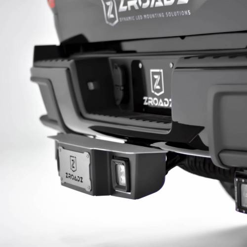 ZROADZ OFF ROAD PRODUCTS - Universal Hitch Step LED Bracket 2 Inch Hitch Receiver, to mount (2) 3 Inch LED Pod Lights - PN #Z390010 - Image 2