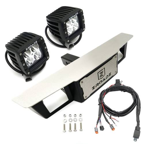 ZROADZ                                             - Universal Hitch Step LED Kit with (2) 3 Inch LED Pod Lights, Fits 2 Inch Receiver  - PN #Z390010-KIT - Image 4