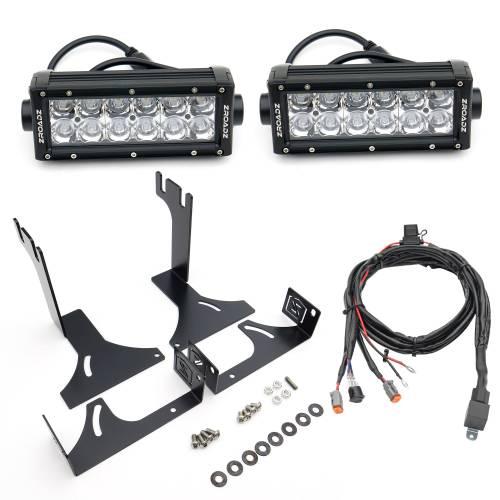 ZROADZ                                             - 2014-2021 Toyota Tundra Rear Bumper LED Kit with (2) 6 Inch LED Straight Double Row Light Bars - PN #Z389641-KIT - Image 3