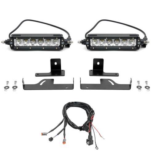 ZROADZ                                             - 2019-2021 Ford Ranger Rear Bumper LED Kit with (2) 6 Inch LED Straight Single Row Slim Light Bars - PN #Z385881-KIT - Image 6