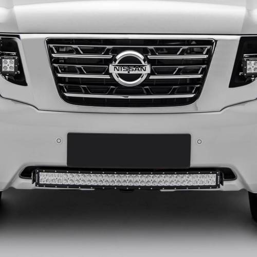 ZROADZ                                             - 2010-2017 Nissan Patrol Y62 Front Bumper Center LED Kit with (1) 30 Inch LED Curved Double Row Light Bar - PN #Z327871-KIT - Image 1