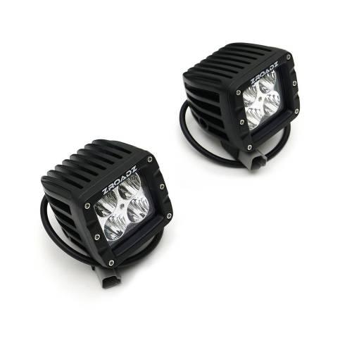 ZROADZ                                             - 2007-2018 Jeep JK Front Roof Side LED Kit with (2) 3 Inch LED Pod Lights - PN #Z334811-KIT - Image 11