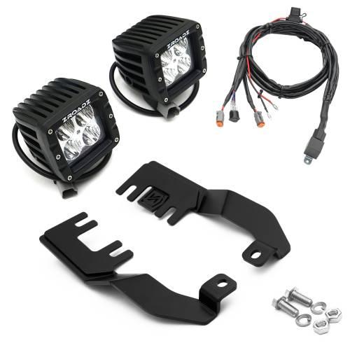 ZROADZ OFF ROAD PRODUCTS - 2010-2017 Nissan Patrol Y62 Hood Hinge LED Kit with (2) 3 Inch LED Pod Lights - PN #Z367871-KIT2 - Image 8