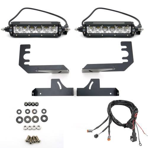 ZROADZ                                             - 2019-2021 Ram 1500 Rear Bumper LED Kit with (2) 6 Inch LED Straight Single Row Slim Light Bars - PN #Z384821-KIT - Image 4