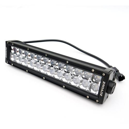 ZROADZ                                             - 2017-2019 Ford Super Duty Front Bumper Center LED Kit with (1) 12 Inch LED Straight Double Row Light Bar - PN #Z325471-KIT - Image 11