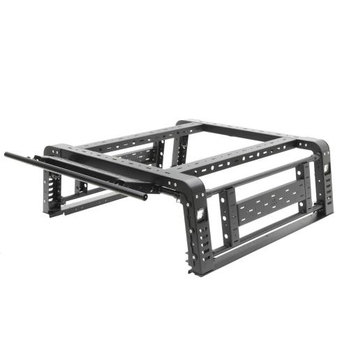 ZROADZ OFF ROAD PRODUCTS - 2019-2021 Jeep Gladiator Access Overland Rack With Three Lifting Side Gates, For use on Factory Trail Rail Cargo Systems - PN #Z834211 - Image 30