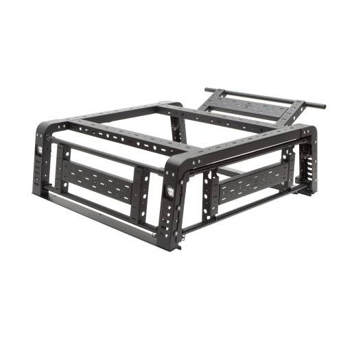 ZROADZ OFF ROAD PRODUCTS - 2019-2021 Jeep Gladiator Access Overland Rack With Three Lifting Side Gates, For use on Factory Trail Rail Cargo Systems - PN #Z834211 - Image 31