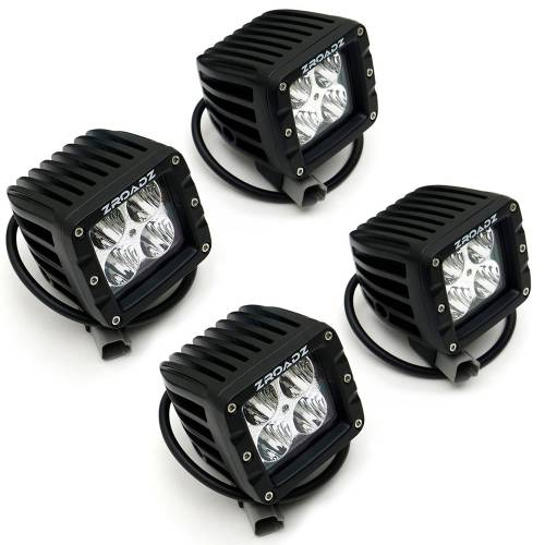 ZROADZ OFF ROAD PRODUCTS - 2016-2021 Toyota Tacoma Overland Access Rack With Side Gates with (4) 3 Inch ZROADZ LED Pod Lights - PN #Z839101 - Image 22
