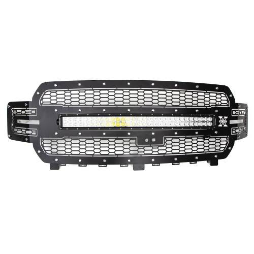 T-REX GRILLES - 2018-2020 F-150 Laser Torch Grille, Black, 1 Pc, Replacement, Chrome Studs with 30 Inch LED, Fits Vehicles with Camera - PN #7315751 - Image 4