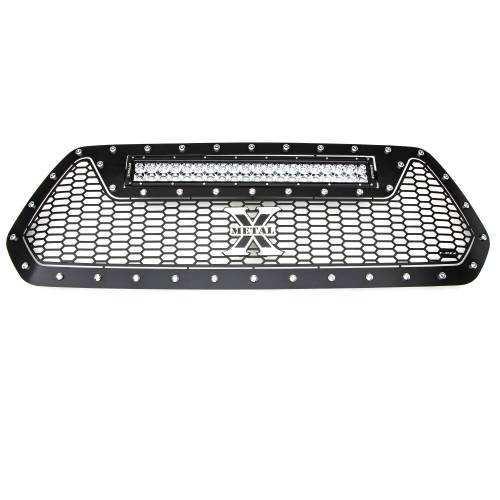 """T-REX GRILLES - 2016-2017 Tacoma Laser Torch Grille, Black, 1 Pc, Insert, Chrome Studs with (1) 20"""" LED - PN #7319411 - Image 2"""