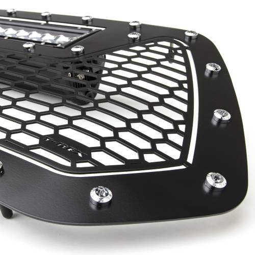"""T-REX GRILLES - 2016-2017 Tacoma Laser Torch Grille, Black, 1 Pc, Insert, Chrome Studs with (1) 20"""" LED - PN #7319411 - Image 5"""