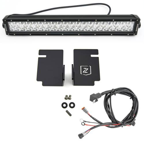 ZROADZ                                             - 2008-2010 Ford Super Duty Front Bumper Center LED Kit with (1) 20 Inch LED Straight Double Row Light Bar - PN #Z325632-KIT - Image 3