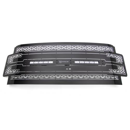 """T-REX GRILLES - 2017-2019 Super Duty ZROADZ Grille, Black, 1 Pc, Replacement with (2) 10"""" LEDs, Fits Vehicles with Camera - PN #Z315371 - Image 3"""