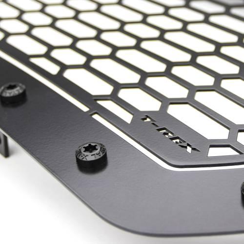 "T-REX GRILLES - 2015-2019 Sierra HD Stealth Laser Torch Grille, Black, 1 Pc, Insert, Black Studs with (1) 30"" LED - PN #7312111-BR - Image 4"