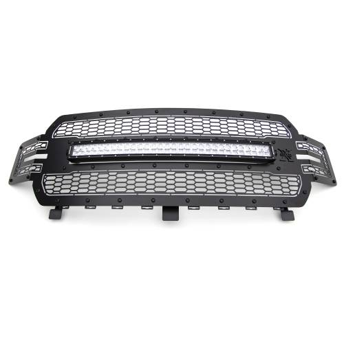 T-REX GRILLES - 2018-2020 F-150 Stealth Laser Torch Grille, Black, 1 Pc, Replacement, Black Studs with 30 Inch LED, Does Not Fit Vehicles with Camera - PN #7315711-BR - Image 4