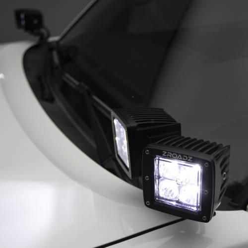 ZROADZ OFF ROAD PRODUCTS - Hood Hinge Adapter Plate to mount (4) 3 Inch LED Pod Lights to Hood Hinge Bracket - PN #Z360002 - Image 4