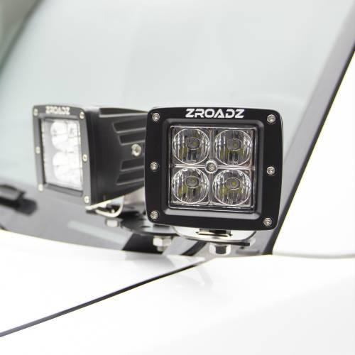 ZROADZ OFF ROAD PRODUCTS - Hood Hinge Adapter Plate to mount (4) 3 Inch LED Pod Lights to Hood Hinge Bracket - PN #Z360002 - Image 2