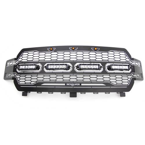 T-REX GRILLES - 2018-2020 F-150 Revolver Grille, Black, 1 Pc, Replacement with (4) 6 Inch LEDs, Does Not Fit Vehicles with Camera - PN #6515841 - Image 8