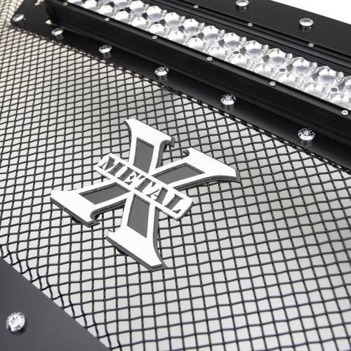 """T-REX GRILLES - 2010-2012 Ram 2500, 3500 Torch Grille, Black, 1 Pc, Replacement, Chrome Studs with (1) 20"""" LED - PN #6314531 - Image 5"""
