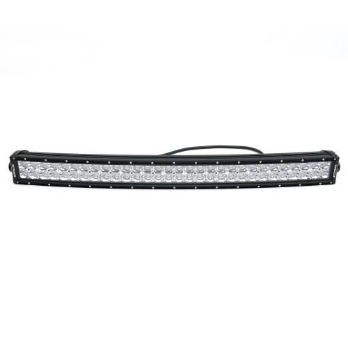 """T-REX GRILLES - 2017-2019 Super Duty Torch AL Grille, Black Mesh, Brushed Trim, 1 Pc, Replacement, Chrome Studs with (1) 30"""" LED, Fits Vehicles with Camera - PN #6315493 - Image 7"""