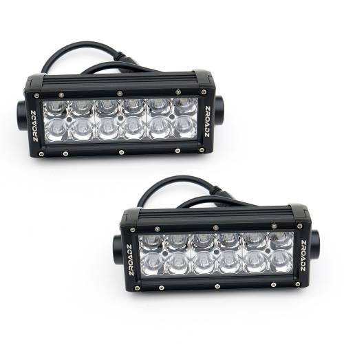 """T-REX GRILLES - 2018-2021 Tacoma Torch Grille, Black, 1 Pc, Insert, Chrome Studs with (2) 6"""" LEDs, Does Not Fit Vehicles with Camera - PN #6319511 - Image 5"""