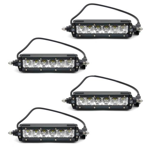 """T-REX GRILLES - 2017-2019 Super Duty Revolver Grille, Black, 1 Pc, Replacement with (4) 6"""" LEDs, Does Not Fit Vehicles with Camera - PN #6515641 - Image 8"""