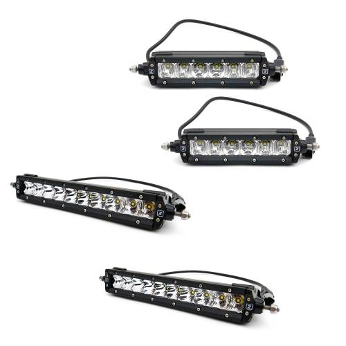 T-REX GRILLES - 2019-2021 Silverado 1500 Stealth Torch Grille, Black, 1 Pc, Replacement, Black Studs with (2) 6 Inch and (2) 10 Inch LEDs, Does Not Fit Vehicles with Camera - PN #6311261-BR - Image 9