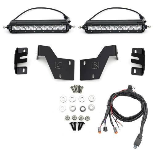 ZROADZ OFF ROAD PRODUCTS - 2017-2019 Ford Super Duty Platinum OEM Grille LED Kit with (2) 10 Inch LED Single Row Slim Light Bars - PN #Z415671-KIT - Image 6