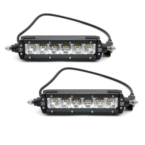 ZROADZ OFF ROAD PRODUCTS - 2018-2020 Ford F-150 Platinum OEM Grille LED Kit with (2) 6 Inch LED Straight Single Row Slim Light Bars, Brushed - PN# Z415583-KIT - Image 11