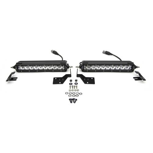 ZROADZ OFF ROAD PRODUCTS - 2017-2019 Ford Super Duty Platinum OEM Grille LED Kit with (2) 10 Inch LED Single Row Slim Light Bar - PN #Z415371-KIT - Image 6