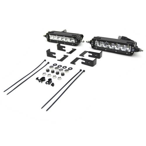 ZROADZ OFF ROAD PRODUCTS - 2019-2021 GMC Sierra 1500 OEM Grille LED Kit with (2) 6 Inch LED Straight Single Row Slim Light Bars - PN #Z412281-KIT - Image 6