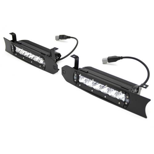 ZROADZ OFF ROAD PRODUCTS - 2018-2020 Ford F-150 Platinum OEM Grille LED Kit with (2) 6 Inch LED Straight Single Row Slim Light Bars, Black - PN# Z415581-KIT - Image 6