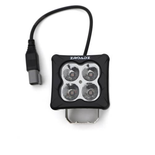 ZROADZ OFF ROAD PRODUCTS - 3 inch ZROADZ LED Light Pod, G2 Series, Amber, Flood Beam, 1 Piece - PN #Z30BC12W-D3A - Image 1