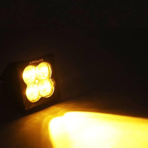 ZROADZ OFF ROAD PRODUCTS - 3 inch ZROADZ LED Light Pod, G2 Series, Amber, Flood Beam, 1 Piece - PN #Z30BC12W-D3A - Image 3