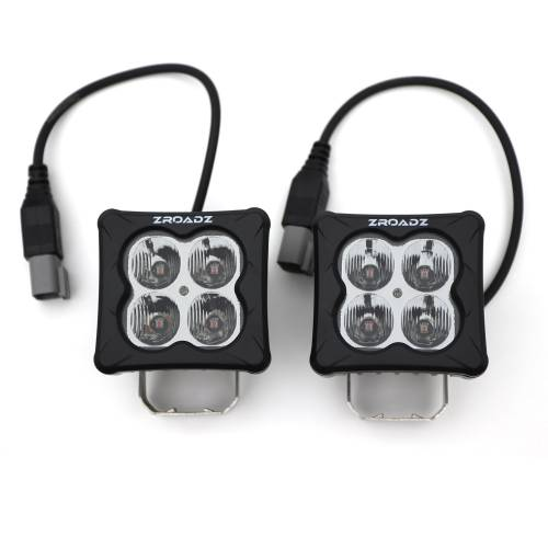 ZROADZ OFF ROAD PRODUCTS - 3 inch ZROADZ LED Light Pod Set, G2 Series, Amber, Flood Beam, 2 Piece  - PN #Z30BC12W-D3A-2 - Image 2
