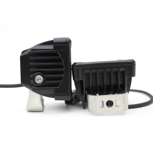 ZROADZ OFF ROAD PRODUCTS - 3 inch ZROADZ LED Light Pod Kit, G2 Series, Amber, Flood Beam, 2 Piece Kit With Wiring Harness - PN #Z30BC12W-D3A-K - Image 5