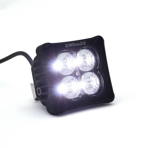 ZROADZ OFF ROAD PRODUCTS - 3 inch ZROADZ LED Light Pod, G2 Series, Bright White, Flood Beam, 1 Piece - PN #Z30BC20W-D3F - Image 3