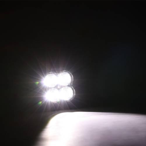 ZROADZ OFF ROAD PRODUCTS - 3 inch ZROADZ LED Light Pod, G2 Series, Bright White, Flood Beam, 1 Piece - PN #Z30BC20W-D3F - Image 4