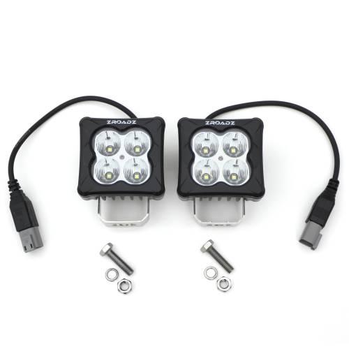 ZROADZ OFF ROAD PRODUCTS - 3 inch ZROADZ LED Light Pod Kit, G2 Series, Bright White, Flood Beam, 2 Piece With Wiring Harness - PN #Z30BC20W-D3F-K - Image 2